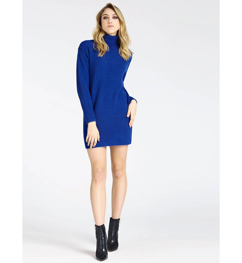 blauwe jurk guess