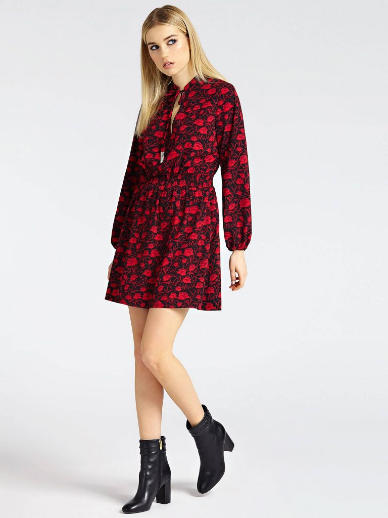 rode bloemen jurk guess Roeslare