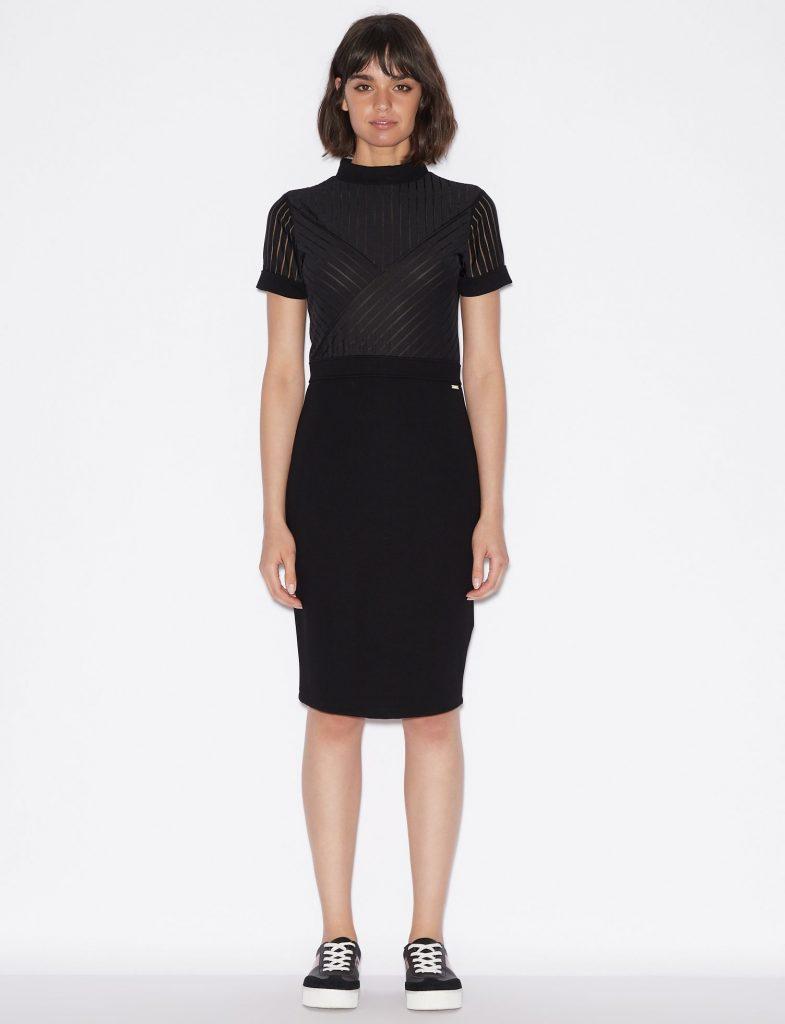 zwarte jurk armani exchange Roeselare